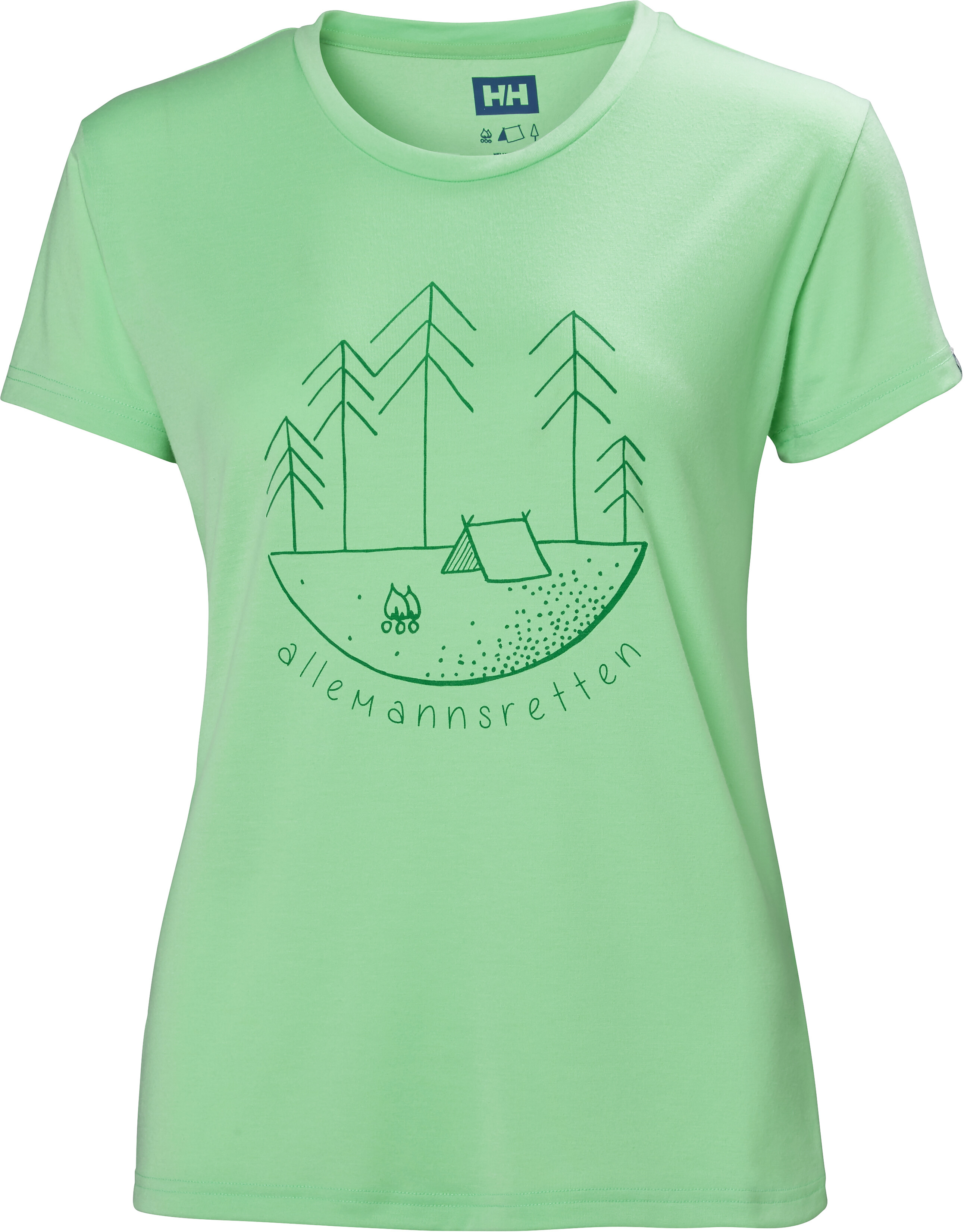 dff04506ee3 Helly Hansen Skog Graphic t-shirt Dames turquoise